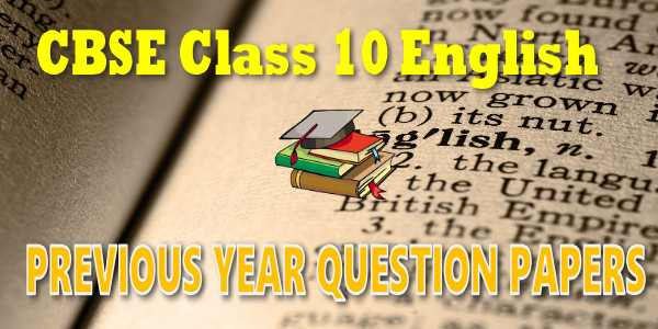 Last Year Papers Class 10 English Communicative